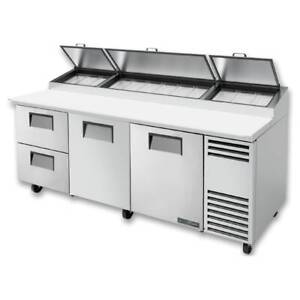 True Tpp at 93d 2 hc 93 Pizza Prep Table W Refrigerated Base 115v