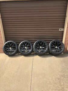 Hre P40 Porsche 911 Turbo 997 987 Panamera 5x130 19 Inch Black Wheels Set Of 4