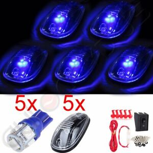 Truck Wiring Pack 5pcs Cab Clearance 12v 5050 5smd Led Light Clear Marker Lamps