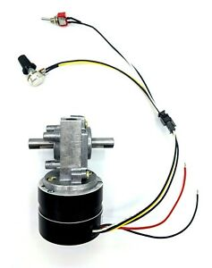 Reversible Variable Speed 25 Rpm 24v Brushless Dc Dual shaft Gear Motor 2 6 N m