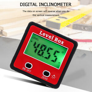 Us Digital Lcd Protractor Gauge Level Box Angle Finder Inclinometer Magnet meter