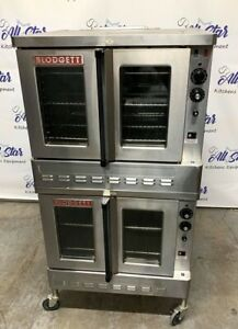 Blodgett Natural Gas Double Deck Full Size Convection Oven On Casters