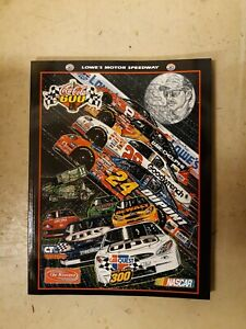 2001 Coca-Cola 600 Collector's Edition Program Magazine Lowe's Motor Speedway