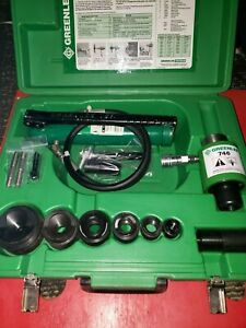 Greenlee 767 Pump And Ram With 1 2 2 Die Complete Set With Case