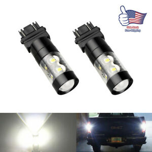 Cree Led 3157 3156 Projector Back Up Reverse Light Drl Lamp 6000k White For Ford