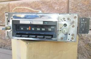 1968 Chevelle Factory Am Fm Radio Delco 7303121 Oem El Camino Working Test Video