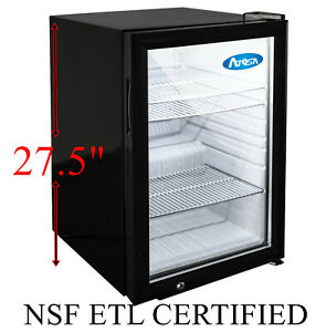Countertop Refrigerated Merchandiser Cooler Soda Cans Great For Food Trucks Nsf