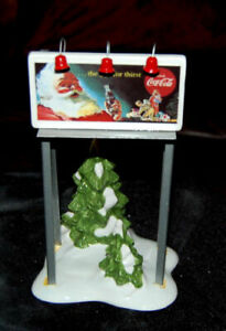 Dept 56 Snow Village ~ Coca Cola Billboard ~ Mint In Box 54810