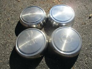 Ford Econoline Van E250 F250 Dog Dish Hubcaps For 16 Inch Wheel Set Beaters