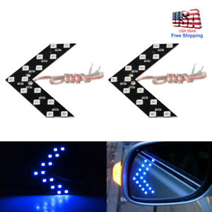 2 Car Auto Side Rear View Mirror 14 smd Led Lamp Turn Signal Light Accessories