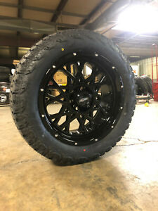 20x9 Vision Rocker Gloss Black Wheels 32 At Tires 6x135 Ford F150 Expedition