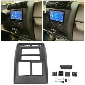 For Jeep Wrangler 1997 2002 Double Din Dash Install Bezel Radio Stereo Kit