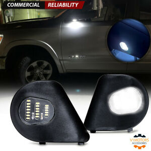 2pcs Led Under Tow Side Mirror Puddle Lights For Dodge Ram 1500 2500 3500 10 18