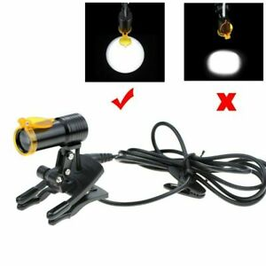 5w Dental Medical Led Head Light With Filter Clip on Headlight For Glasses Black