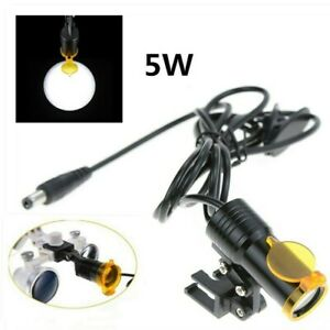 Dental Medical 5w Led Head Light With Filter Insert Type For Binocular Loupes