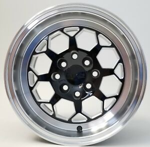 Traklite Octane Drag Wheel Black W Machine Lip 13x8 4x100 10mm Honda Pair 2qty