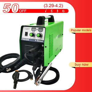 Mig Welder 150a 110v 220v Flux Core Arc Stick Mma Mig Igbt Inverter Welder Usa