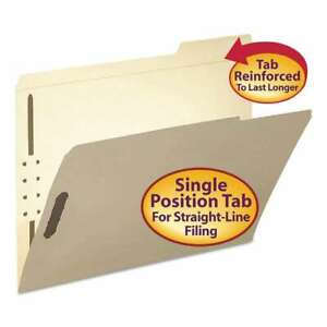 Smead Folder Two Fasteners 1 3 Cut Third Position Top Tab Le 086486145381