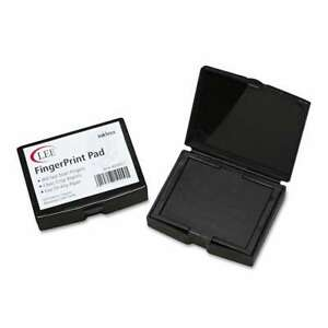Lee Inkless Fingerprint Pad 2 1 4 X 1 3 4 Black 084417030270
