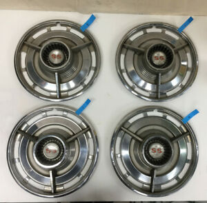 1963 Chevy Impala Ss Original Hubcaps Wheel Cover Set Of 4 Oem