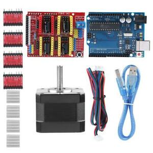 Diy For Arduino Cnc Contoller Kit W Cnc Shield V3 Stepper Motors A4988 Driver