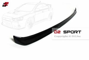 Carbon Fiber Rear Gurney Flap Lip Spoiler Fits For Mitsubishi Evolution Evo 10