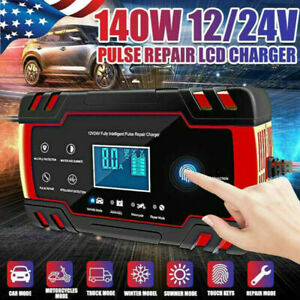 Car Battery Charger 12 24v T Ouch Screen Pulse Repair Lead Acid Agm Gel Wet B2h0
