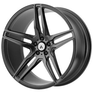 Staggered Asanti Abl 12 Front 22x9 Rear 22x10 5 5x115 Graphite Wheels Rims