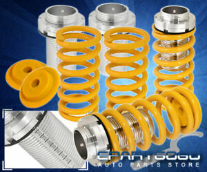 94 97 98 01 Integra Dc2 Ls Rs Gs Scale Adjustable Coilover Sleeves Kit Yellow