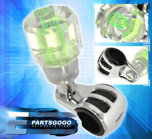 Steering Wheel Turn Hand Knob Assistance Aid Acrylic Streak Neon Green For Scion