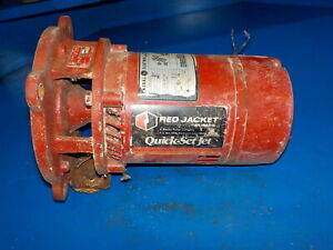 Red Jacket Pumps quick Set Jet 50rj Motor Only Parts Only Dirty Used