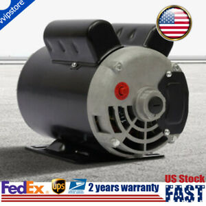 5 Spl Hp Air Compressor Electric Motor Single Phase 3450rpm 5 8 Keyed Shaft