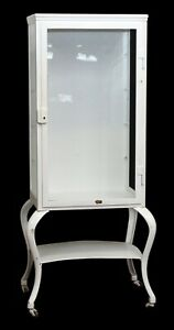 White Medical Cabinet With Glass Shelves