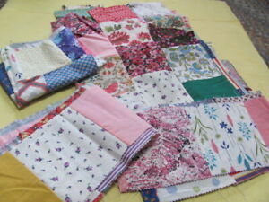 Vintage Cotton Quilt Blocks Fabric Ranges From 1930 S To 1950 S
