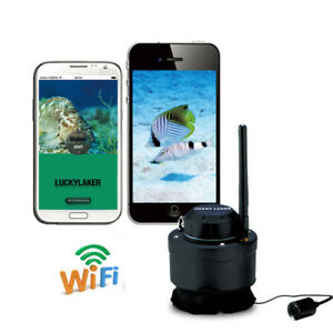 LUCKY Underwater 80M Wireless Fishing Camera Fish Finder For Android IOS River