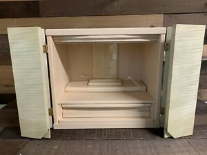 Wooden Display Case Stage Cabinet Light Stain Kai1415 18 W X 12 d 17 H New