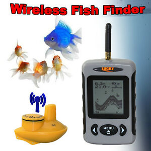 Lucky Wireless Fish Finder Fishing Camera 100M Sonar Depth Detector 40M/120FT