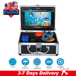 EYOYO 7 inch Underwater Fishing Camera 30M 1000TVL Fish Finder HD Monitor IR LED