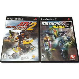 PS2 Playstation ATV Offroad Fury 2 & Motocross Mania 3 2 Game Lot Complete