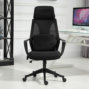 Vinsetto Office Computer Swivel Chair W Massage Cushion Adjustable Seat Black