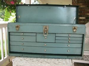 Large Machinist Metal Tool Box With Center Drawer Tool Chest Box Craftsman