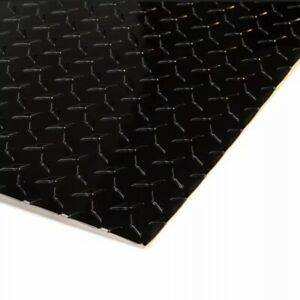 4 X 8 Black Aluminum Diamond Plate Sheet Starbrite 025 Thick