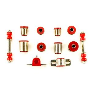 Red Poly Front End Suspension Bushings Set Fits 1974 1977 Chevrolet Camaro