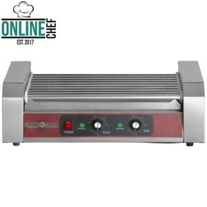24 Hot Dog Roller Grill With 9 Rollers Stainless Steel 110 Volts 1350 Watts