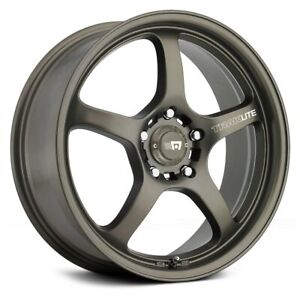 Motegi Racing Mr131 Traklite Wheels 18x9 35 5x114 3 Bronze Rims Set Of 4