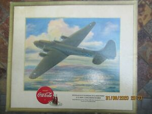 Vintage World War II US Army B-19 Bomber Poster w Coca Cola  Advertising