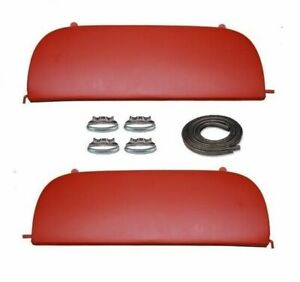 49 50 Chevy Bel Air Deluxe Metal Fender Skirts With Clips 1949 1950