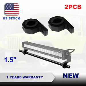 1 5 38mm Mount Bracket Clamp Roof Tube Cage Bull Roll Led Work Light Bar Holder