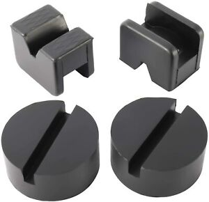Novelbee 4pcs Rubber Jack Stand Pad Adapter Frame Rail Jack Pinch Weld Protector