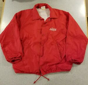 Coca-Cola vintage jacket windbreaker 70's embroidered logo